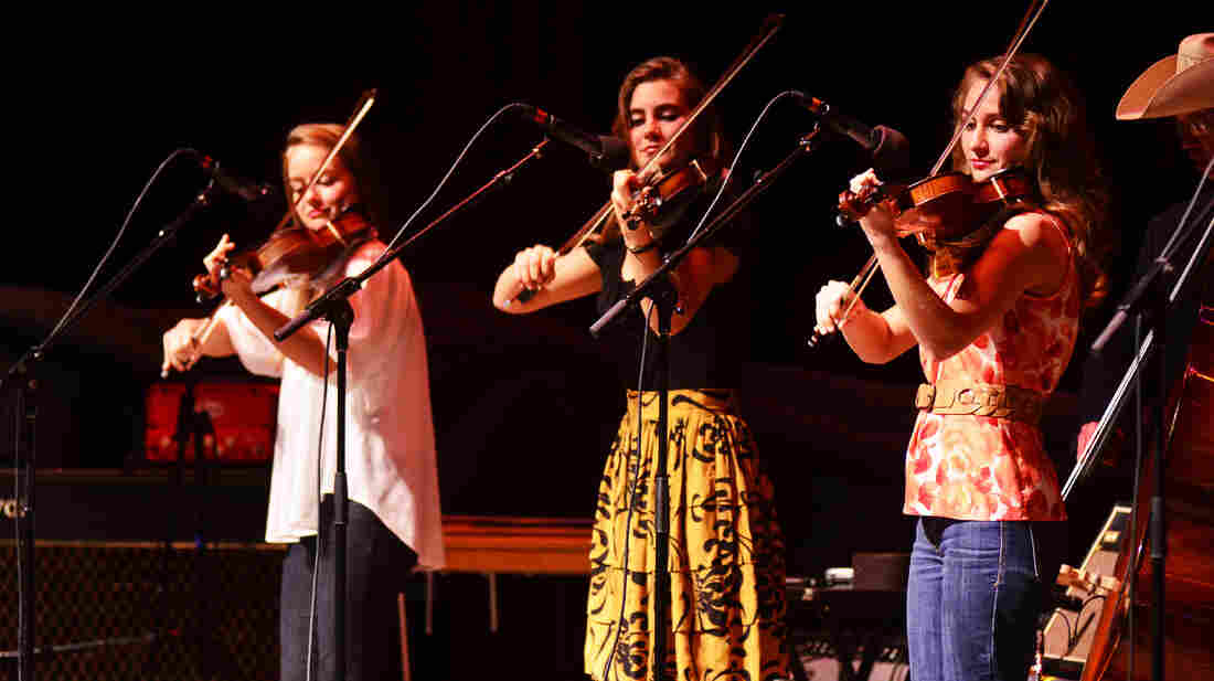 The Quebe Sisters Band performs on Mountain Stage.