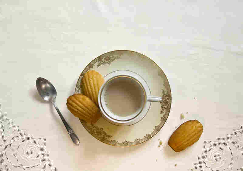 """""""She sent out for one of those short, plump little cakes called petites madeleines, which look as though they had been moulded in the fluted scallop of a pilgrim's shell."""" (Swann's Way)"""