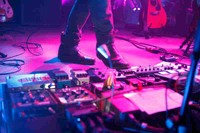 Recreating the sonic scope of Shields required a carefully orchestrated assortment of effects pedals.