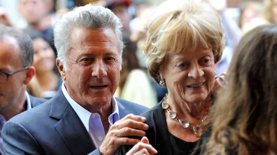Director Dustin Hoffman and actress Maggie Smith arrive at the Quartet Premiere at the 2012 Toronto International Film Festival on September 9, 2012.