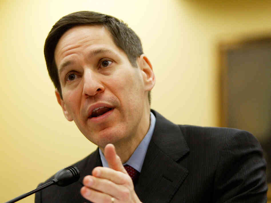 Thomas Frieden, director of the Centers for Disease Control and Prevention, testifies during a hearing on Capitol Hill in November 2009.