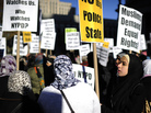American Muslims have not been protesting the recent anti-Islam video, The Innocence of Muslims. However, they have held demonstrations in recent years, including this one directed at the New York police department in November 2011.