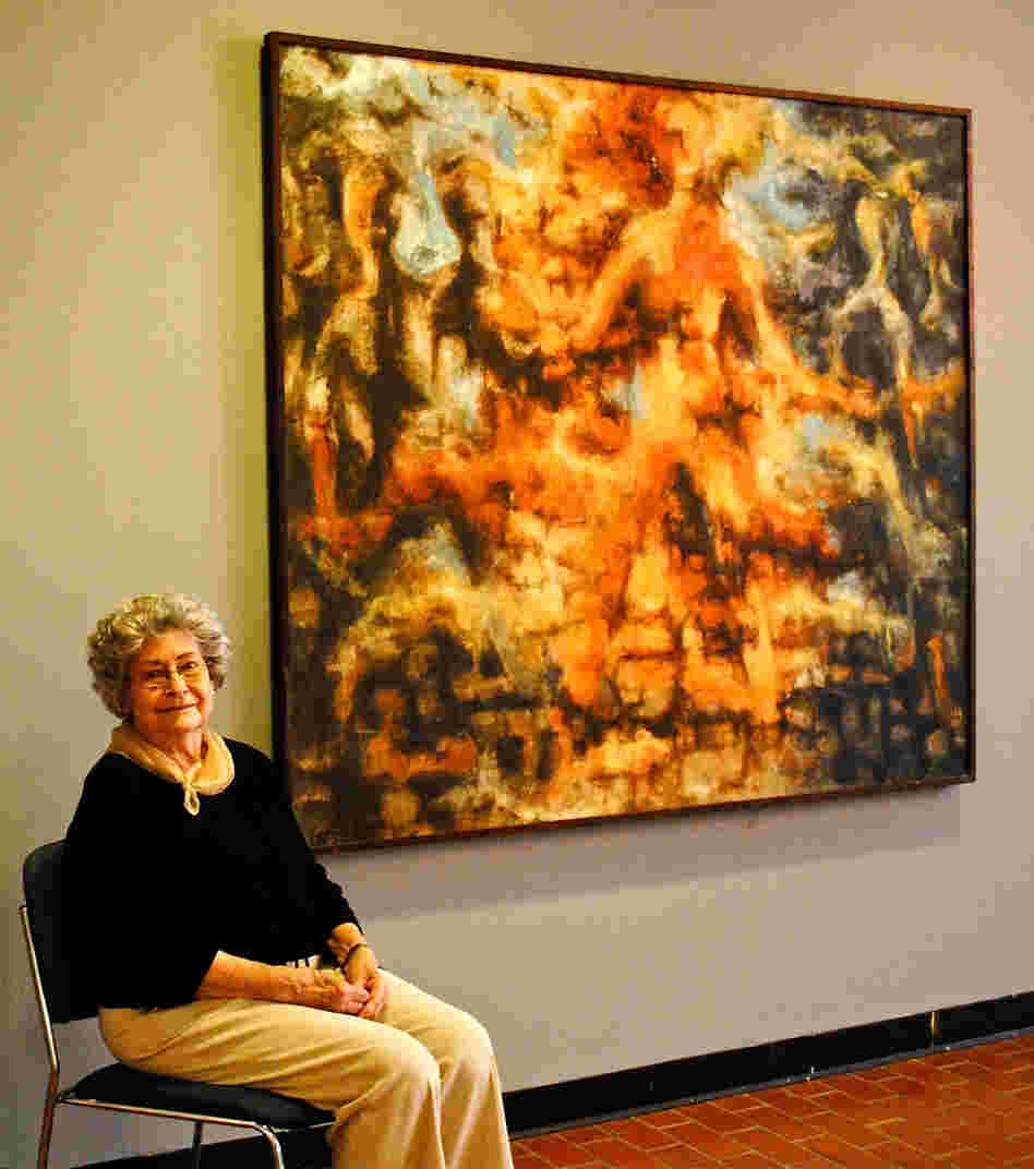 Marleah Kaufman Hobbs, 89, was a fine arts graduate student at Ole Miss in 1962 during the campus riots. Back then, she painted Burning Man in response to the violence.