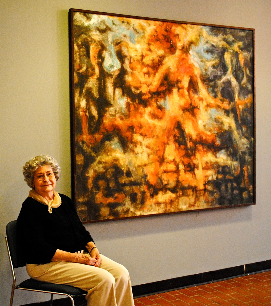 Marleah Kaufman Hobbs, 89, was a fine arts graduate student at Ole Miss in 1962 during the campus riots. Back then, she painted Burning Man in response to the violence. (Courtesy of Blair Hobbs )