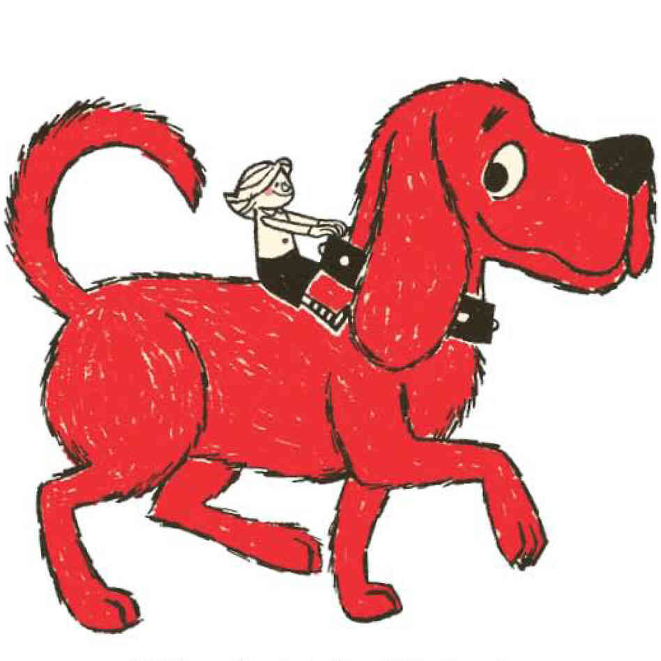 A page from Clifford the Big Red Dog.