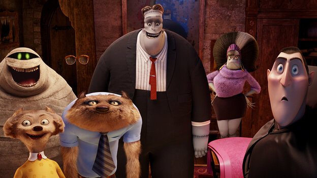 Murray the Mummy (Cee-Lo Green), The Invisible Man (David Spade), Frankenstein (Kevin James), Eunice (Fran Drescher), Dracula (Adam Sandler), Wayne (Steve Buscemi) and Wanda (Molly Shannon) are only a few of the ghoulish guests in Hotel Transylvania.