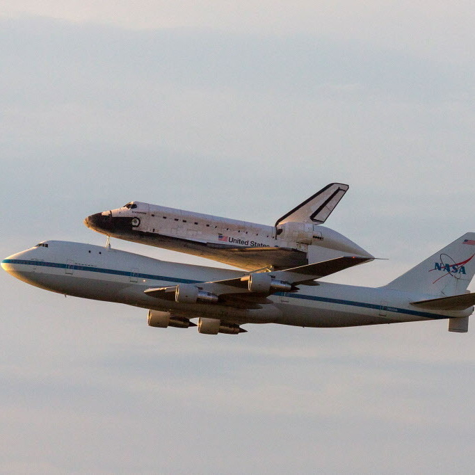 It will be coming into Los Angeles: Endeavour, atop its carrier, as it left NASA's  Kennedy Space Center on Wednesday. The shuttle has made stops in Houston and California's Edwards Air Force Base.