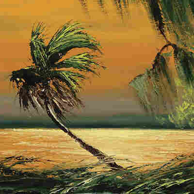 "A Florida landscape painted by Alfred Hair, one of the original ""Highwaymen"""