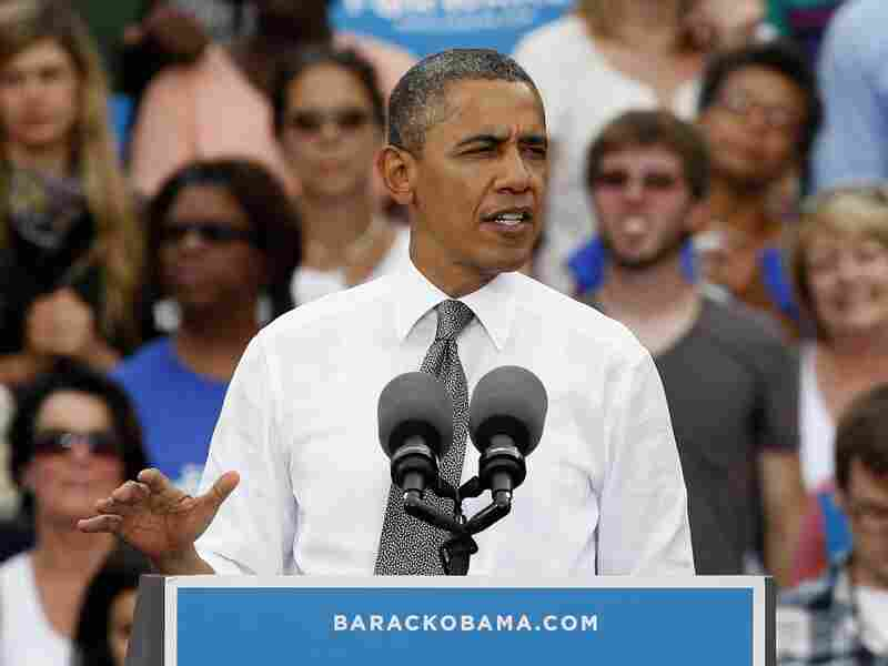 President Barack Obama speaks to supporters on September 17, 2012 in Columbus, Ohio.
