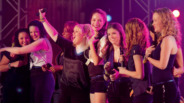The Bellas battles the boys in Pitch Perfect (Unoversal Pictures)