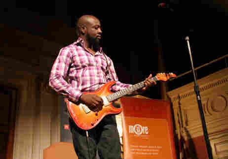 Wyclef Jean performed songs while at Sixth & I synagogue in Washington, D.C., to talk about his new book with Tell Me More Host Michel Martin.