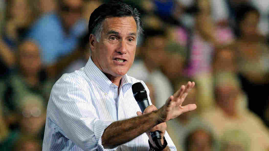 Republican presidential candidate Mitt Romney speaks at a campaign event at the Cox Pavilion Friday in Las Vegas.