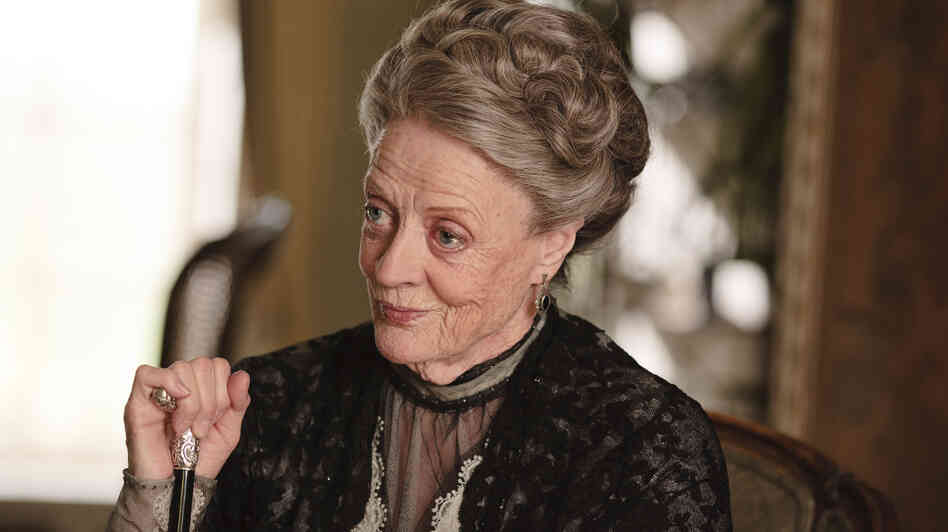 Maggie Smith as Violet, Dowager Countess of Grantham on Downton Abbey.
