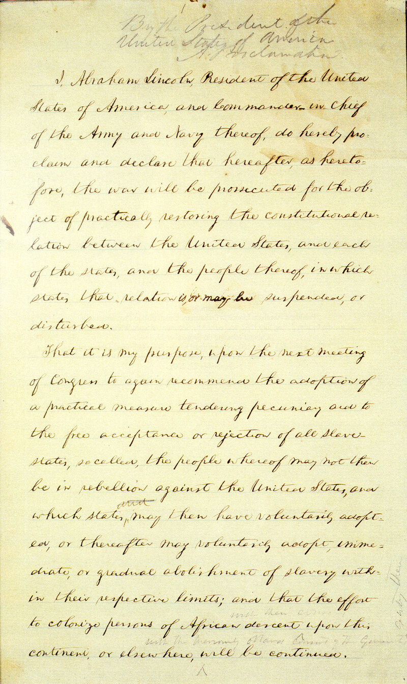 emancipation proclamation by abraham lincoln essay