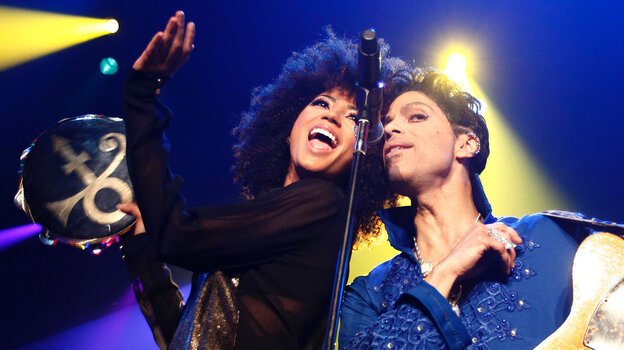 Andy Allo and Prince performing last July in Rotterdam, Netherlands.