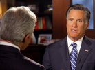 Mitt Romney talks with 60 Minutes correspondent Scott Pelley.