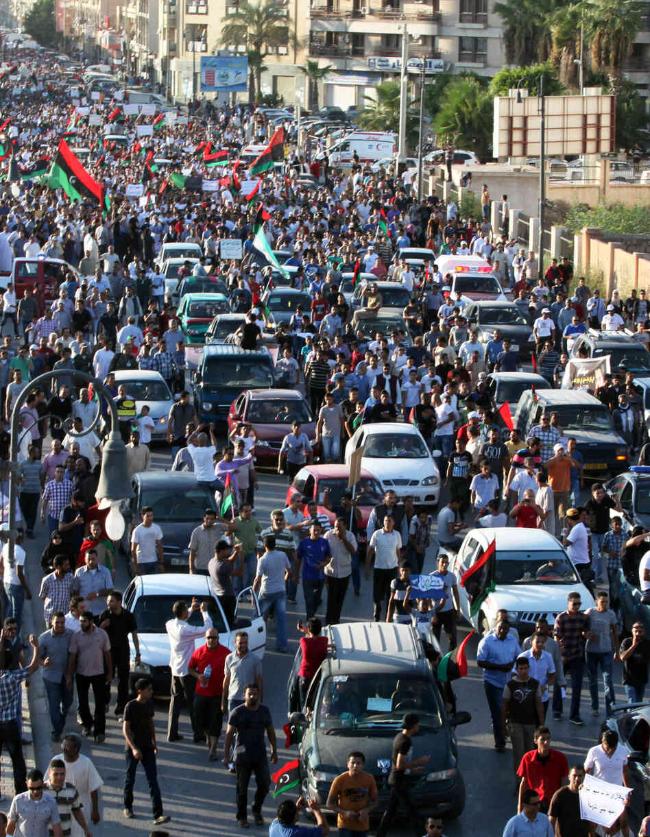 On Friday and again on Saturday in Benghazi: Protesters took to the streets in opposition to the extremist militias that have operated in the city since the toppling of Moammar Gadhafi.