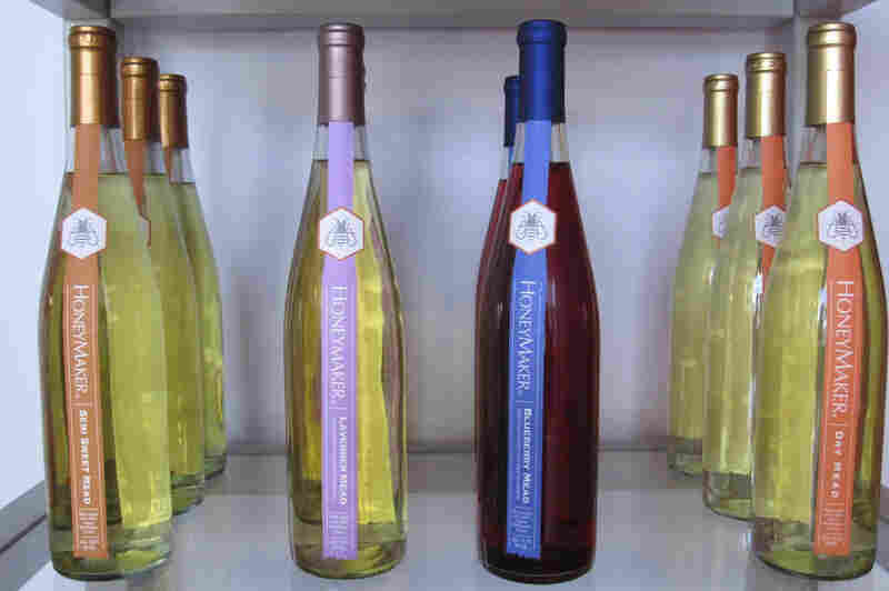 Maine Mead Works sells seven different kinds of HoneyMaker mead from blueberry to dry-hopped to semi-sweet.