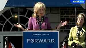 Jill Biden, speaking of her husband, to the delight of her audience (and him).