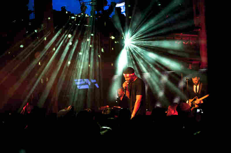 Frank Ocean performs at Angel Orensanz Foundation for the Arts. The special show was announced that day and a few hundred lucky fans were able to RSVP for free tickets.