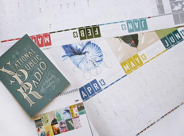 NPR 2012 Calendar bluelines, which aren't actually blue.