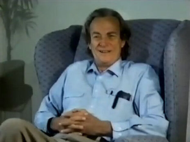 Richard Feynman talking about trees and fire.