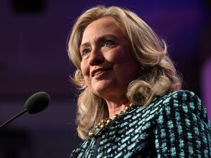 Secretary of State Hillary Clinton speaks to participants of the Clinton Global Initiative meeting on September 24, 2012 in New York City.