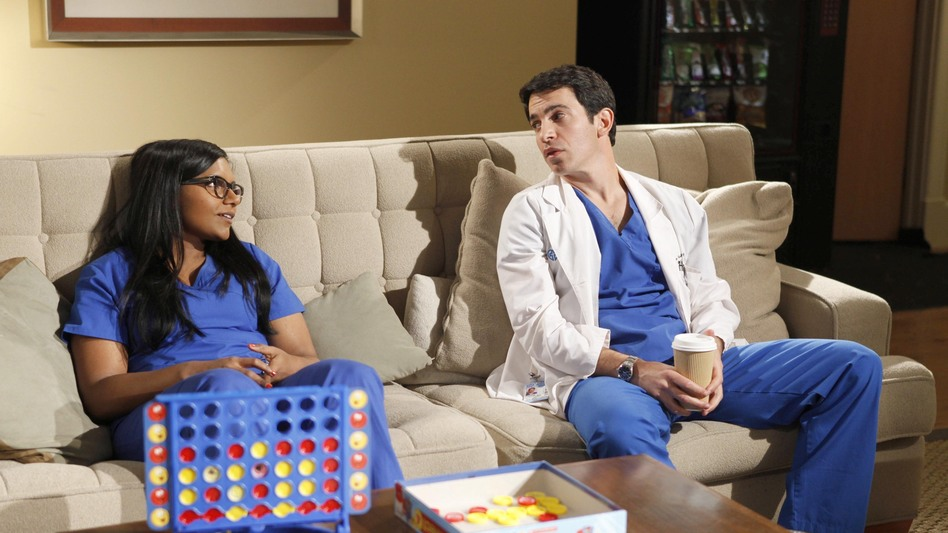 Danny (Chris Messina) and Mindy learn that medicine isn't all fun and games. (Fox)