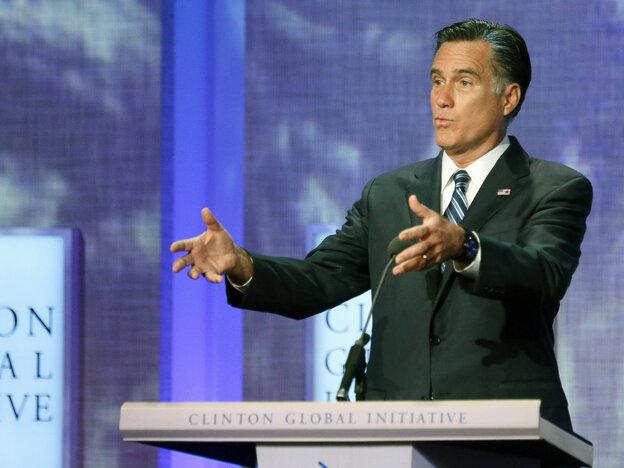 Republican presidential nominee Mitt Romney
