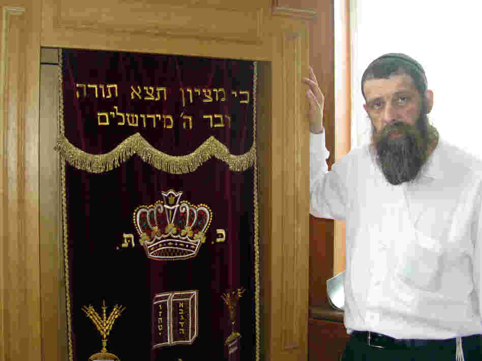 Dovid Karpov has been the rabbi at the Darkei Shalom synagogue since it was built 15 years ago. Like many people in his congregation, Karpov grew up in a Soviet-era family that was not religious. He says he had to learn his faith for himself.