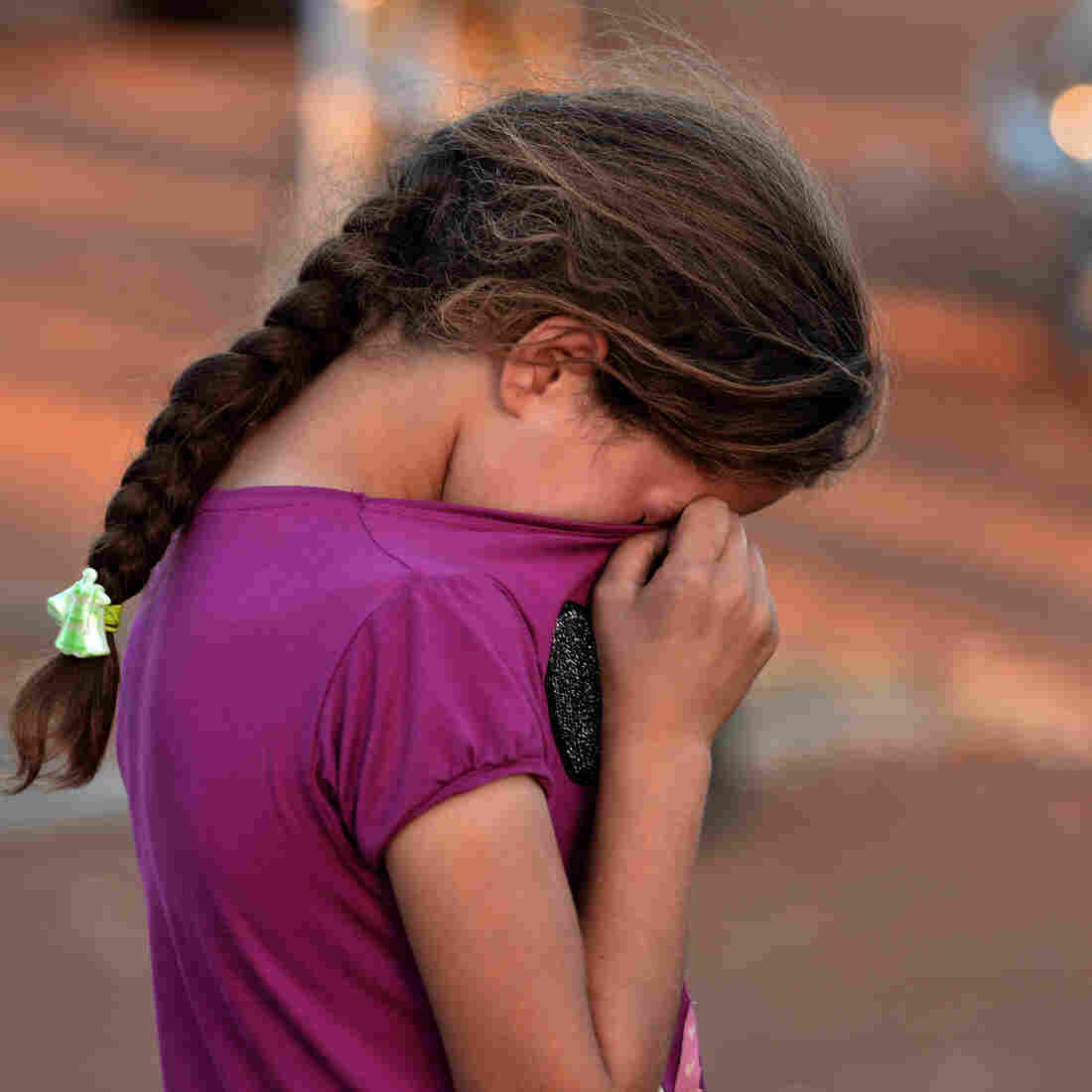 A young Syrian girl wiped her tears after not being allowed entry to Turkey last month. Thousands of Syrians have fled to neighboring countries to escape the civil war raging in their nation.