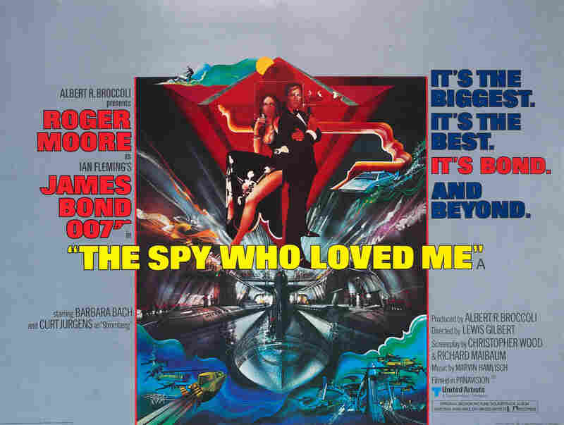1977: This poster is more stylized and darker in tone than previous Bond film campaigns, creating an image that attracts with mystery rather than an all-guns-blazing action approach. Main campaign artwork by innovative American poster artist Bob Peak.