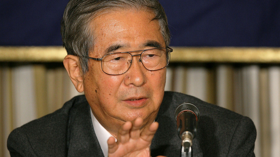 Tokyo Gov. Shintaro Ishihara, seen here at a 2009 news conference, is blamed by some for touching off the worst foreign policy crisis between China and Japan in decades. (Getty Images)