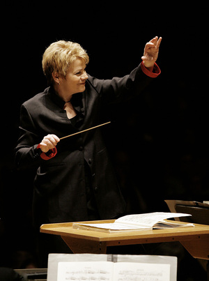Baltimore Symphony Orchestra music director Marin Alsop is a champion of music by her mentor, Leonard Bernstein.