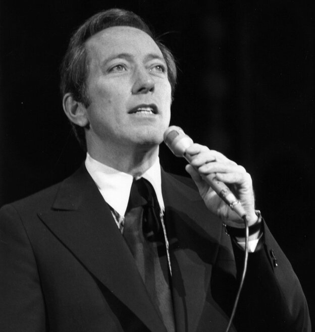 Singer Andy Williams in 1970.