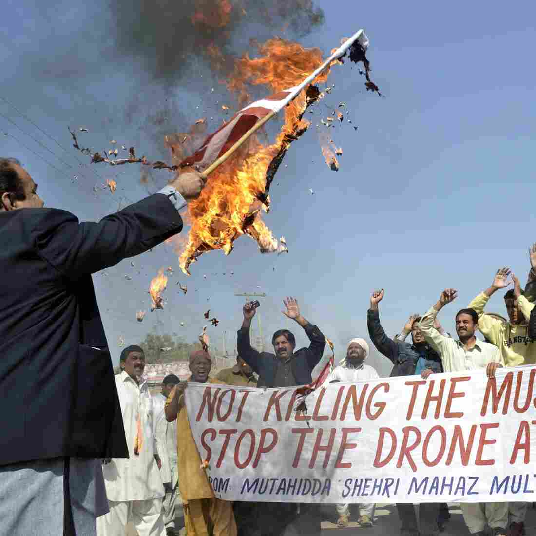 February: A protest in Multan, Pakistan, over the drone attacks.