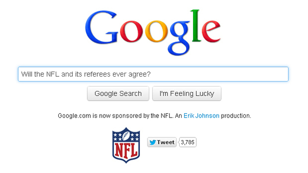 A spoof site launched by Erik Johnson pretends to offer Google's search engine — if it were run by replacements. (Replacement Google)