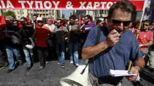 Tear Gas, Rocks Fly At Anti-Austerity Protest In Athens