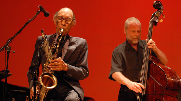 Sam Rivers' trio with Dave Holland and Barry Altschul (not pictured) recently released its 2007 reunion show on CD. (Courtesy of the artist)