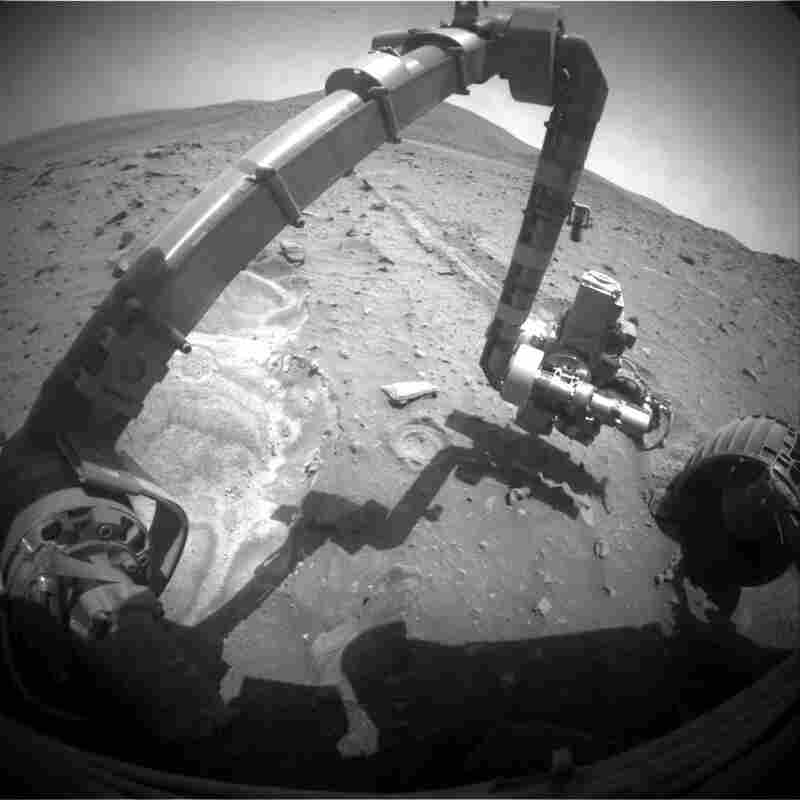 Spirit, 2010: When NASA's Spirit rover got stuck in Martian sand, it proved to be a lucky break: The spinning wheel churned up soil that provided evidence of rocks formed in the presence of water.