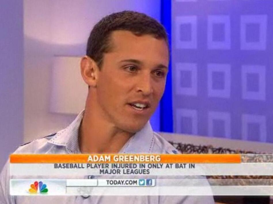 Adam Greenberg, who's going to get another chance to bat, on NBC's <em>The Today Show</em>.