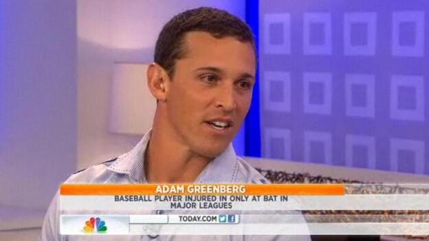 Adam Greenberg, who's going to get another chance to bat, on NBC's The Today Show. (NBC.com)