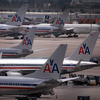 American Airlines planes sit on the tarmac at Miami International Airport this month. Reports indicate that American Airlines has canceled somewhere between 2 and 5 percent of flights in recent days, reportedly blaming a surge in pilot sick days and maintenance write-ups by pilots.