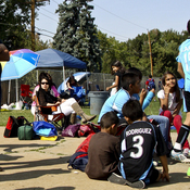Families in a predominantly Latino youth soccer league gather for matches in Aurora. Hispanics make up nearly a third of the city's population, according to the 2010 Census.