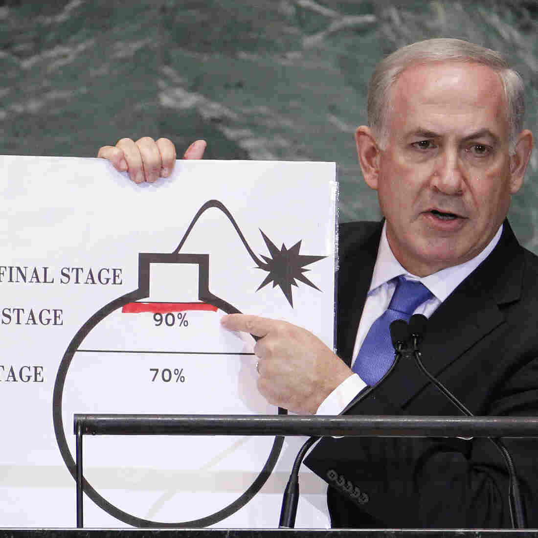 Netanyahu Calls For 'Red Line' On Iran; Rejects Palestinian's 'Libelous' Charges
