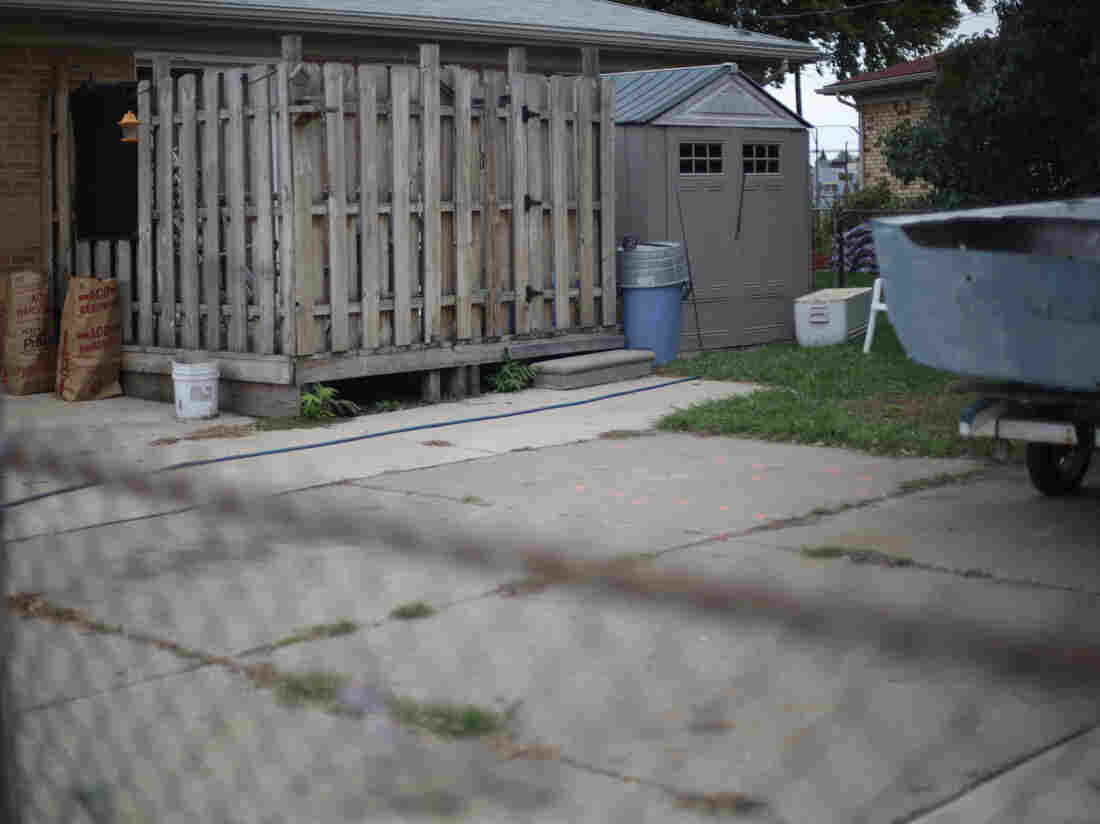 What lies beneath? The driveway in Roseville, Mich., where soil samples will be taken to see if human remains — possibly Jimmy Hoffa's — are buried there.