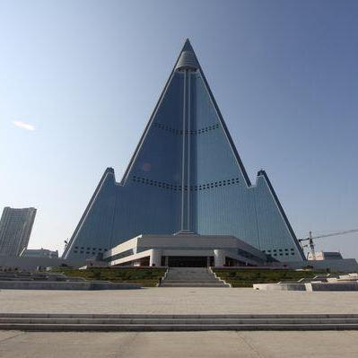 The Ryugyong Hotel, from the front.