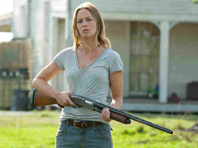 Sara (Emily Blunt) is a single mom who's learned to stand her ground to protect her home — and her young son.