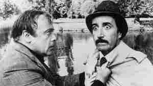 Herbert Lom, left, as police chief Charles Dreyfus and Peter Sellers as Inspector Clouseau in the 1976 film The Pink Panther Strikes Again.