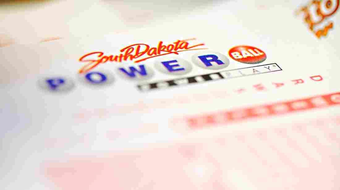 A Powerball ticket reader at a South Dakota store.